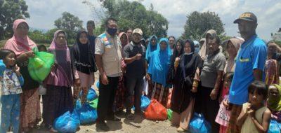 YBM PLN UP3 Bima Salurkan Bantuan Paket Sembako kepada Warga Terdampak Banjir Hu'u Dompu