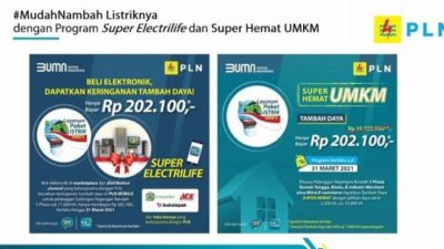 Super Electrilife Promo Tambah Daya PLN Bagi Pelanggan Rumah Tangga dan UMKM